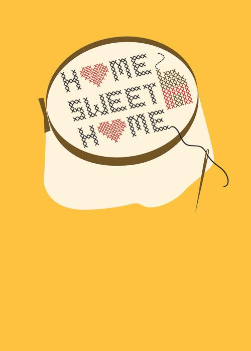 New Home Cross Stitch Card-NewHome-Gen