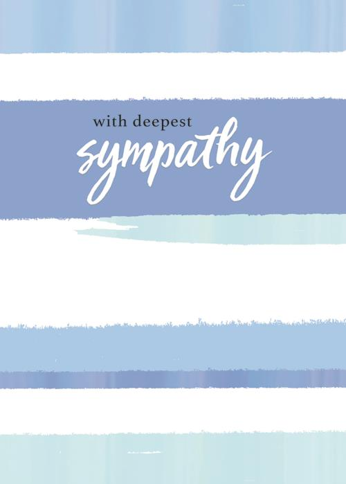 With Deepest Sympathy Stripes Card-Sympathy-Gen