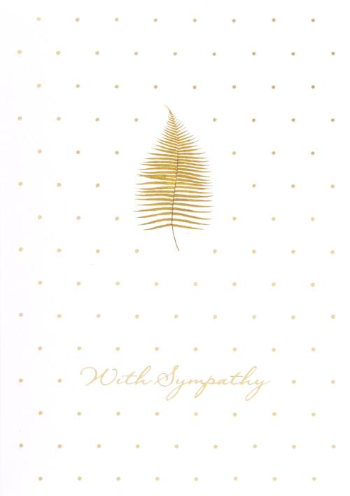 Single Leaf with Sympathy Card-Sympathy-Gen